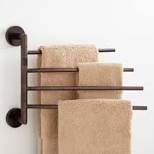 Bath Shelves With Towel Bar by Towel Racks Towel Bars U0026 Towel Shelves Signature Hardware