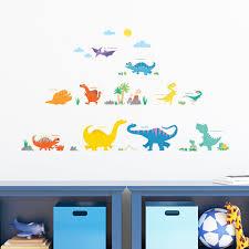 kinderzimmer decowall dw 1805 bunter dinosaurier wandtattoo