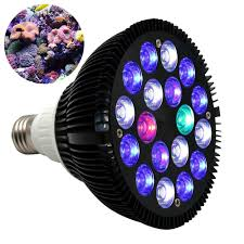 kingbo 18w led aquarium light bulb par38 e27 6 band