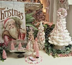 Ceramic Christmas Tree Bulbs Hobby Lobby by Penny U0027s Vintage Home White Ceramic Christmas Tree U0027s And A Pink