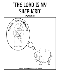 Shepherd Coloring Page Psalm