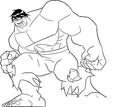Free Printable The Hulk Coloring Pages