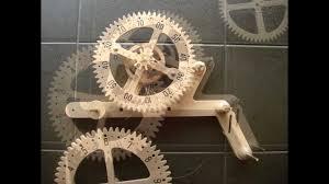 clayton boyer genesis wooden gear clock solid oak youtube