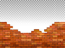 Vintage Brick Wall Background Vector Royalty Free Stock Photography