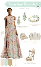 maxi floral print wedding style guest styling knotsvilla