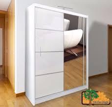 Wardrobes Flat Pack Wardrobes Sliding by Vista White 150 Sturdy Free Standing Wooden Sliding Door Wardrobe