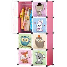 Amazoncom KOUSI Kids Dresser Kids Closet Portable Closet Wardrobe