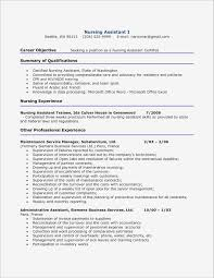 Registered Nurse Resume Sample Fresh Certified Nursing Assistant O Ideas Of