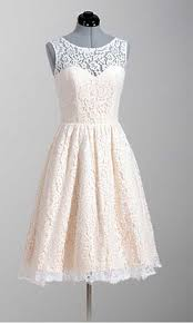 Knee Length Modern Lace Vintage Wedding Party Dresses KSP296
