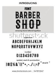 FontAlphabetScriptTypefaceLabelModern Barber Shop Typeface For
