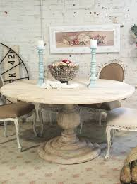 Farmhouse Round Dining Room Table Painted Cottage Chic Shabby French Linen