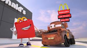 Sofa King Burgers Red Bank by Mater Misbehaves At Mcdonald U0027s Disney Pixar Cars Toys Movies