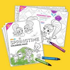 Fan Club Exclusive Springtime Coloring Pack Enfants