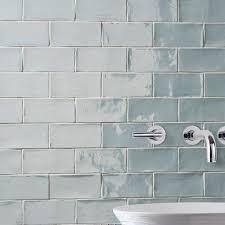somertile 3x6 inch gloucester acqua ceramic wall tile of 16