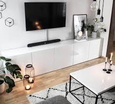 wohnzimmer ikea kerzenschein skandinavisch