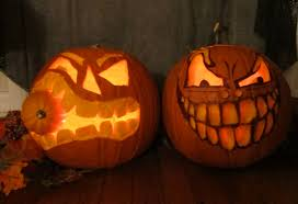 Cute Carved Pumpkins Faces by Diy The Party Event