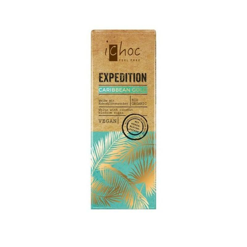 iChoc Organic Expedition Caribbean Gold Cocoa Butter Bar, 50g