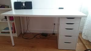 bureau laqué blanc ikea bureau ikea caisson clasf
