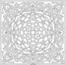 Difficult Printable Geometric Free Hard Coloring Pages