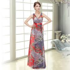 online get cheap printed long evening dress aliexpress com