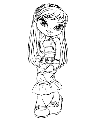 Free Printable Bratz Kidz Coloring Pages For Kids Girls And Boys Make A Book Of Pictures Sheets