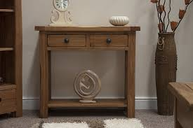 Tilson Solid Rustic Oak Furniture Hallway Console Table