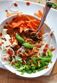 Quick And Healthy Lunch Ideas Asian Noodle Bowl With Ginger Peanut Dressing Recipe