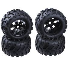 100 Truck Tires And Wheels 4Pcs 32 Inch RC 18 Monster Rubber 17mm Hex
