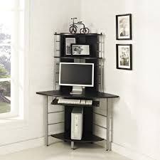 Black Glass Corner Computer Desk by Tips For Choosing A Tall Computer Desk Home And Garden Decor