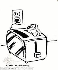 Image Is Loading Ape Bread In Toaster Original Signed Cartoon