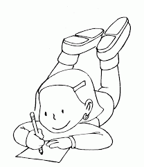 Doing Homework Coloring Pages