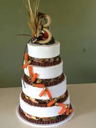 Awesome Hunting Themed Wedding Cake
