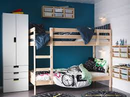 modern interior ikea mydal bunk bed frame made of solid wood kids