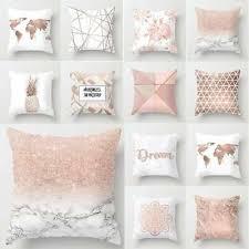 dekokissen möbel wohnen gold rosa kissenbezug
