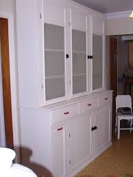 Painted 1940s Kitchen Cabinet