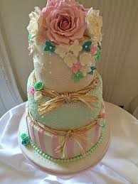 Pink And Mint Wedding Cakes