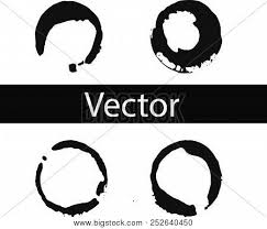 Vector Set Of Coffee Ring Stains Black Drink Illustration On Transparent Background Isolated