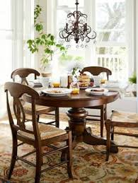 Pottery Barn Aaron Upholstered Chair by Sumner Pedestal Table Aaron Chair Set Pottery Barn 2675 1