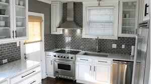 White Cabinets Dark Gray Countertops by Kitchen Backsplash Contemporary Backsplash White Cabinets Gray