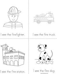 I See The Firefighter Mini Book Free From TwistyNoodle