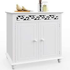 deuba kommode weiß landhausstil mit 2 türen sideboard holz schrank anrichte badschrank badezimmer bad flur