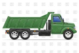 100 The Big Green Truck Dumper Truck Side View Vector Illustration Of Transportation