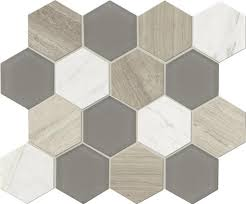Menards Mosaic Glass Tile by Mohawk Grand Terrace Hexagon 12