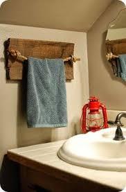 Rustic Wood Towel Rack