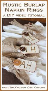 DIY Rustic Burlap Napkin Rings For Thanksgiving Learn How To Make Your Own Fun