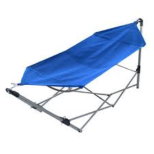 portable hammock with frame stand and carrying bag blue bj s