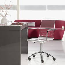 Acrylic Desk Chair With Arms by Modern Office Chairs Chandler Office Chair Eurway