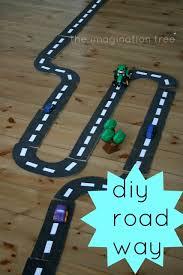 diy cardboard road way play the imagination tree