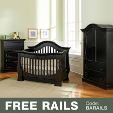 Graco Espresso Dresser 5 Drawer by Baby Appleseed Davenport 3 Piece Nursery Set Convertible Crib