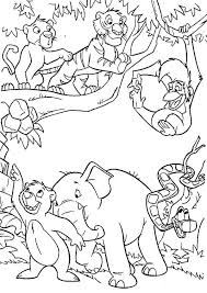 Jungle Book Coloring Pages Interest Printable